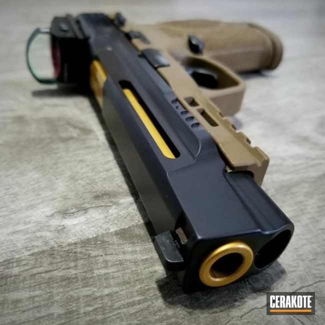 "Thumbnail image for project ""Smith & Wesson M&P Handgun Cerakoted in H-146"""