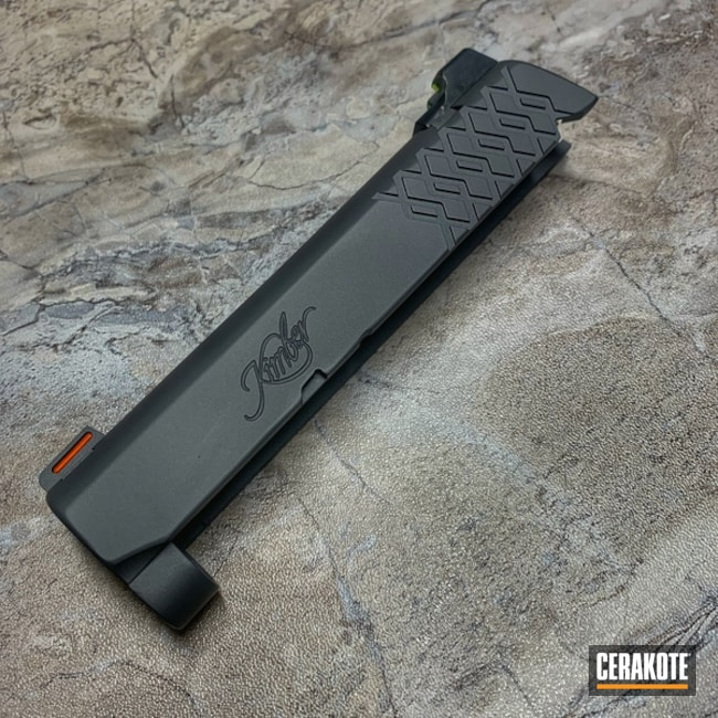 "Thumbnail image for project ""Kimber 1911 Pro Carry II Slide Cerakoted in H-234 Sniper Grey"""