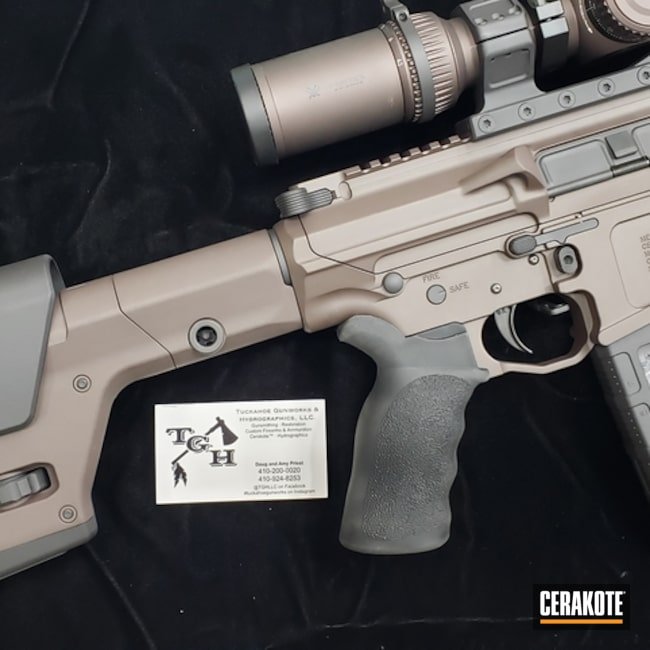 Mega Arms AR-10 Rifle with Cerakote H-190 and H-293