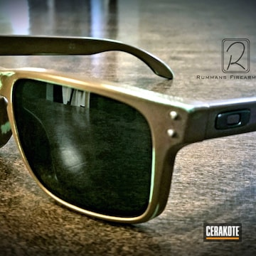 Cerakoted Copper Patina Finished Oakley Sunglasses