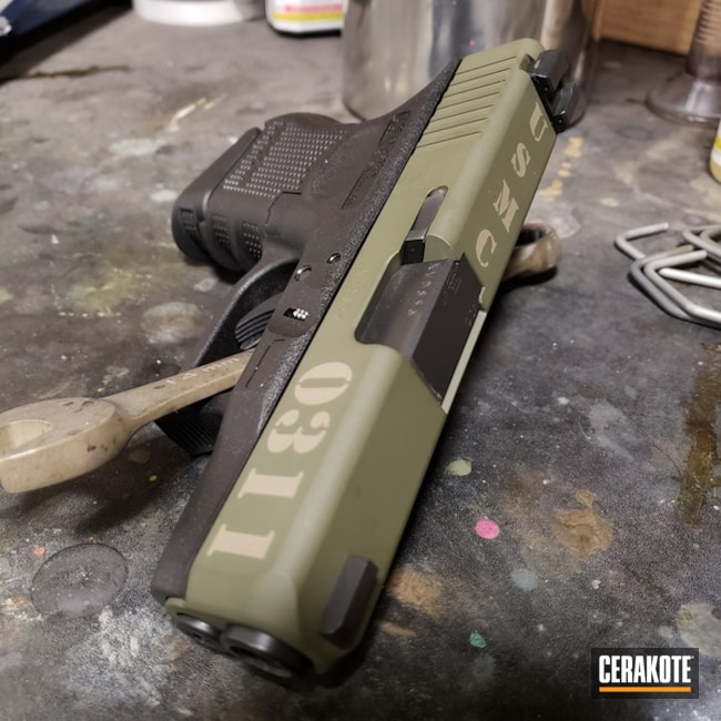 "Thumbnail image for project ""Glock 27 Handgun done in H-265 Flat Dark Earth and H-229 Sniper Green"""