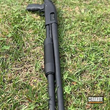 Cerakoted Cerakote Graphite Black Finish On This Tactical Shotgun