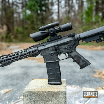 Cerakoted Distressed Aero Precision Ar Pistol