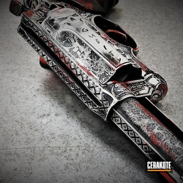 Cerakoted Taurus Judge Revolver In A Battleworn Bone Finish
