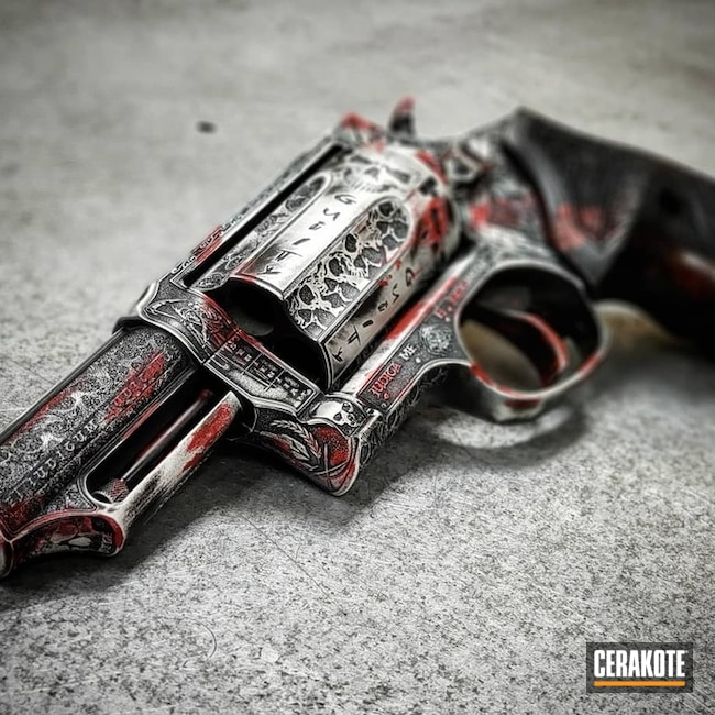 "Thumbnail image for project ""Taurus Judge Revolver in a Battleworn Bone Finish"""