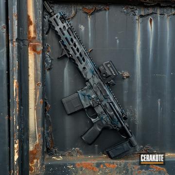 Cerakoted Sig Sauer Mcx Rifle Ina Blue Cerakote Multicam