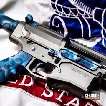 Cerakoted Custom Cerakoted Ar-10 Rifle