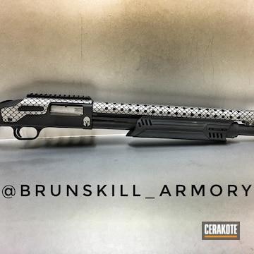 Cerakoted Cerakote Scale Pattern On This Custom Shotgun