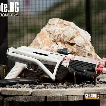 Cerakoted H-167 Usmc Red And H-136 Snow White