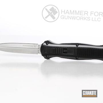 Cerakoted Benchmade Knife With Cerakote E-100 Blackout