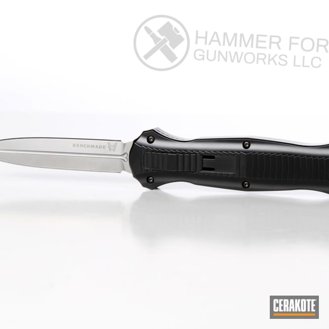 Cerakoted: Cerakote Elite Series,BLACKOUT E-100,Benchmade,More Than Guns,Knife,Knives