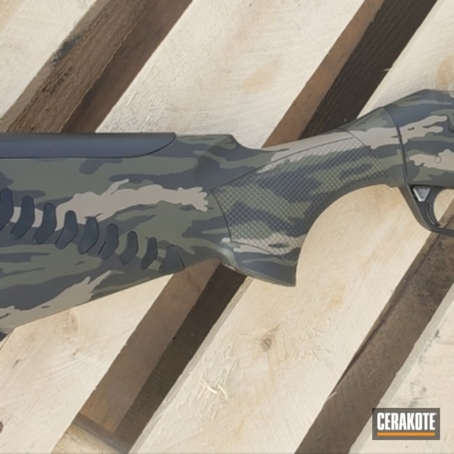 Benelli Shotgun with Cerakote Vietnam Tiger Stripe Camo