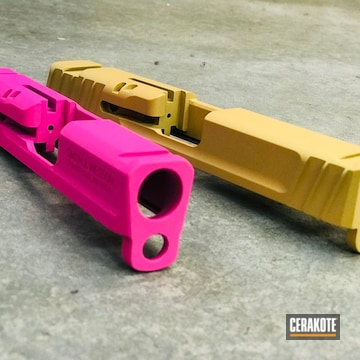 Cerakoted H-141 Prison Pink And H-122 Gold