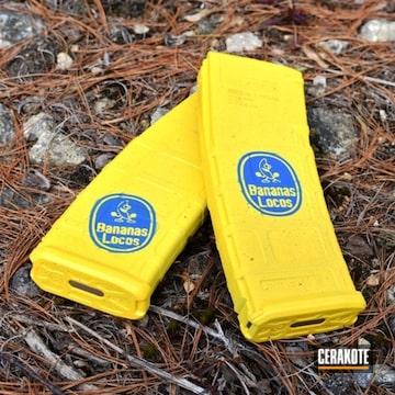 Cerakoted Custom Banana Themed Gun Magazines