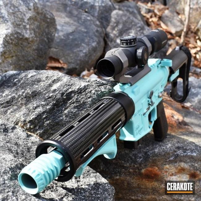Cerakoted: AR Pistol,Robin's Egg Blue H-175,Custom,Gloss Black H-109,Carbon Fiber,Stainless H-152,Custom Built,Leupold,.300 Blackout,SB Tactical