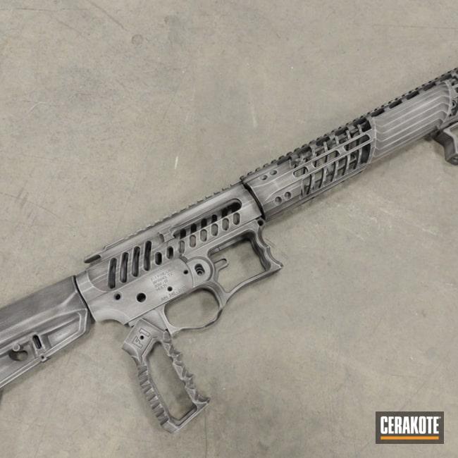 Cerakoted: Hidden White H-242,Graphite Black H-146,Distressed,F1 Firearms,Upper / Lower / Handguard