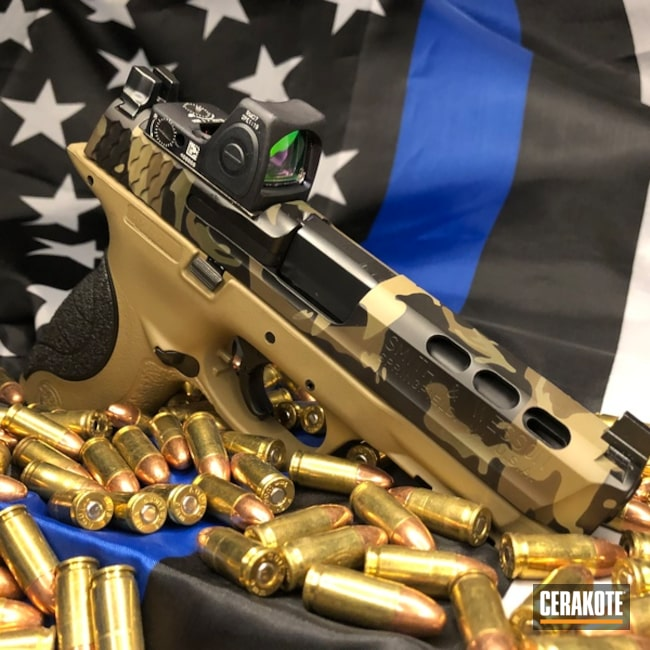 Cerakoted: Custom Mix,Coyote Tan H-235,MultiCam,Graphite Black H-146,Mil Spec O.D. Green H-240,Smith & Wesson,Pistol