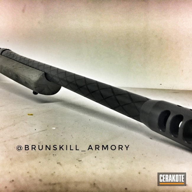Cerakoted: Rifle,Bolt Action Rifle,Sniper Grey H-234,Graphite Black H-146,Custom Stenciling