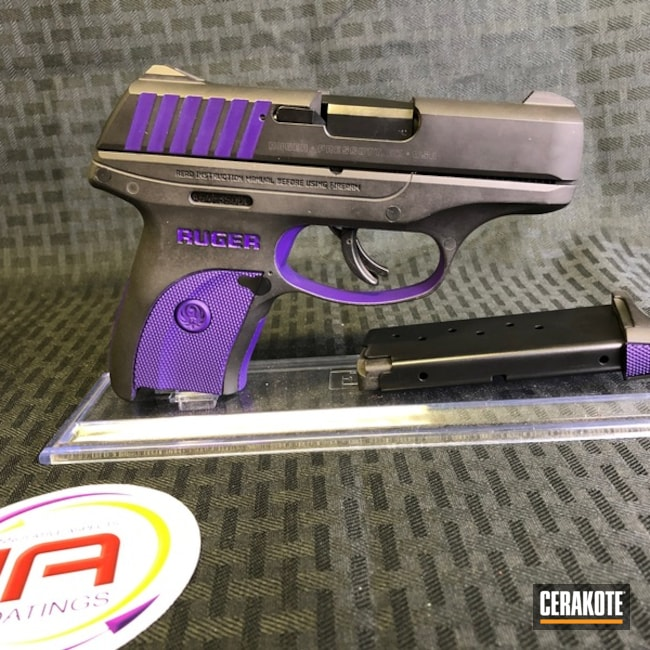 Cerakoted: Ruger,Two Tone,LOLLYPOP PURPLE C-163,Pistol
