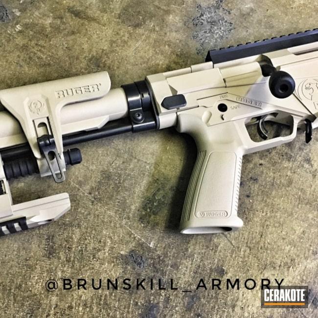 Cerakoted: Bolt Action Rifle,Ruger,Ruger Precision 6.5,Desert Sand H-199