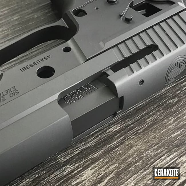 Cerakoted: Custom Mix,M11-A1,Graphite Black H-146,Armor Black H-190,Pistol,Sig Sauer,SIG™ DARK GREY H-210