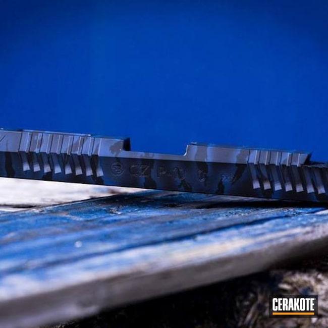 Cerakoted: S.H.O.T,Midnight E-110,NRA Blue H-171,CZ P10C,CZ,Slide