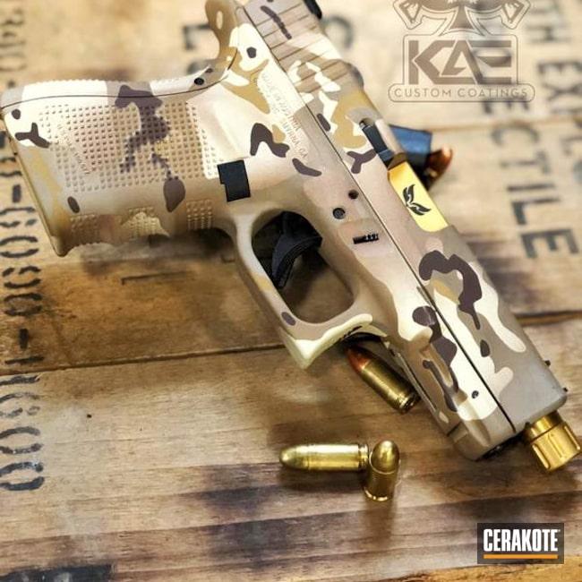 Cerakoted: Noveske Tiger Eye Brown H-187,Glock 19,BARRETT® BROWN H-269,BENELLI® SAND H-143,Pistol,Glock