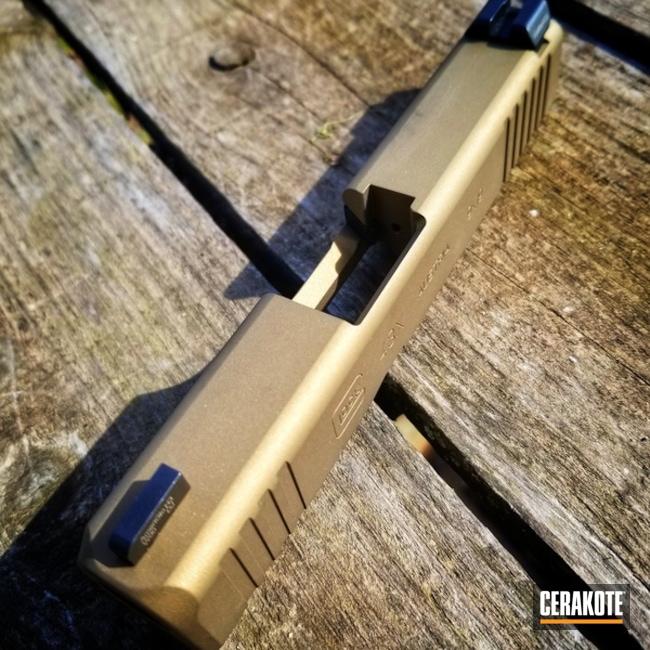 Cerakoted: Burnt Bronze H-148,Glock,Gold H-122,Glock 43