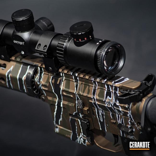 Cerakoted: Custom Mix,Tiger Stripes,Mil Spec O.D. Green H-240,Burnt Bronze H-148,Armor Black H-190,Tactical Rifle,Custom Camo