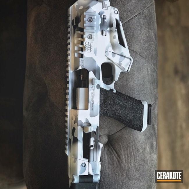 Cerakoted: MAD Land Camo,MultiCam,Graphite Black H-146,Micro Roni,Stormtrooper White H-297,Camo,BATTLESHIP GREY H-213,Glock,HandgunStabilizer,Snow Camo