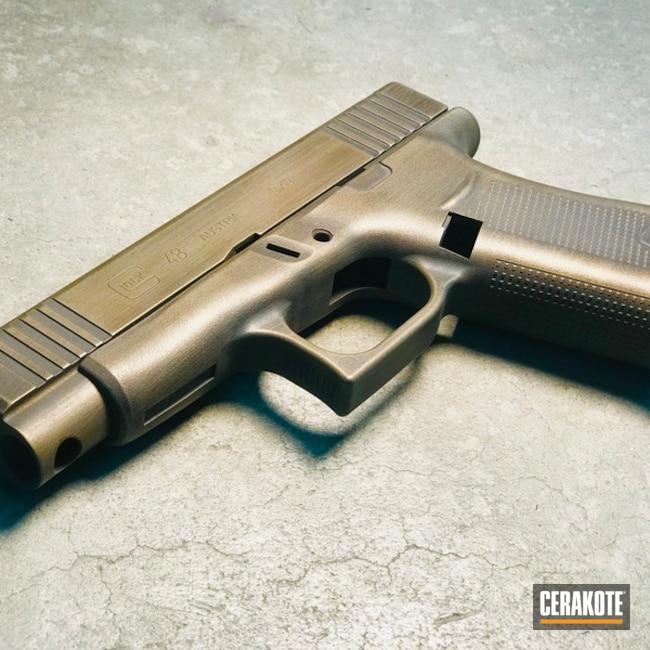 Cerakoted: Glock 48,Graphite Black H-146,Burnt Bronze H-148,Pistol,Glock,Steve Williams,Christopher Miller