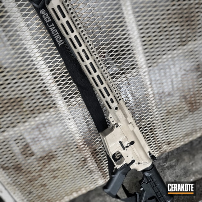 "Thumbnail image for project ""Bushmaster AR-15 in a Cerakote H-199 Desert Sand Finish"""