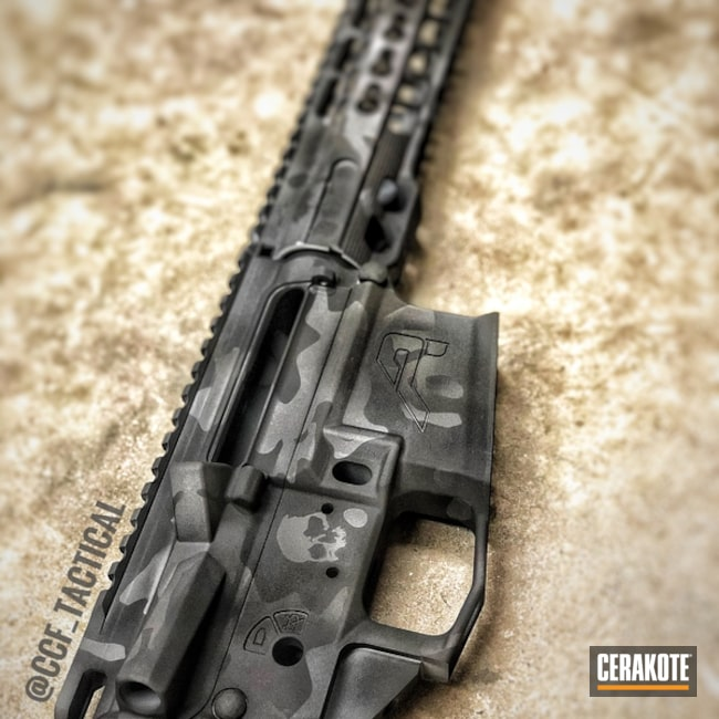 "Thumbnail image for project ""Aero Precision Upper / Lower / Handguard in a Cerakote MultiCam Black Finish"""