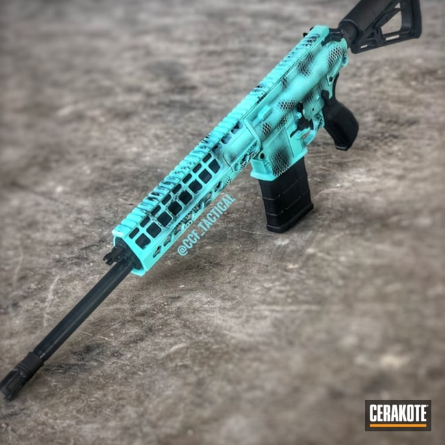 "Thumbnail image for project ""AR 308 in a Cerakote Snake Skin Camo Finish"""