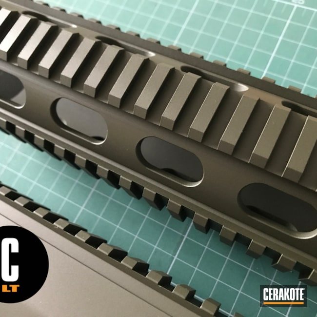 Cerakoted: DPMS Panther Arms,Mil Spec O.D. Green H-240,Upper / Lower / Handguard,Solid Tone,DPMS