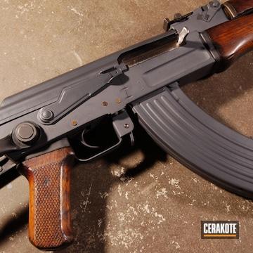 Cerakoted Ak-47 Rifle Done In H-234 Sniper Grey