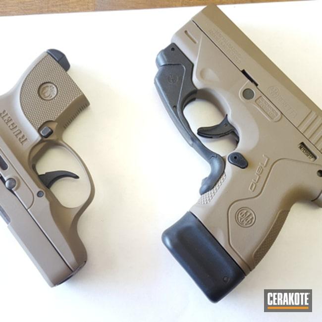 Cerakoted: MAGPUL® FLAT DARK EARTH H-267,Ruger,Beretta,Pistols