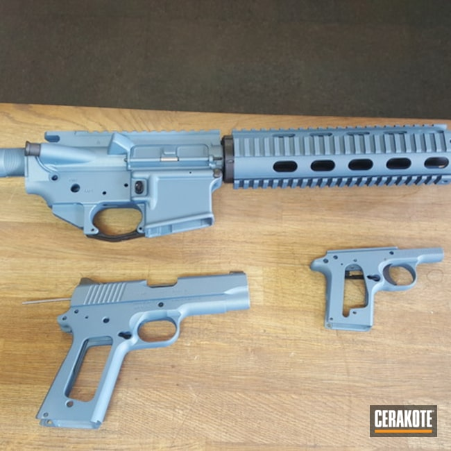 Cerakoted: Solid Tone,Pistol,Tactical Rifle,Blue Titanium H-185
