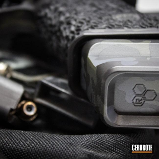 Cerakoted: MultiCam,Zev Glock,Graphite Black H-146,Armor Black H-190,Pistol,Glock,Mil Spec Green H-264