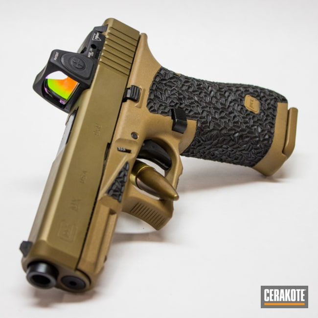 Custom Glock 19X with Stippled Grip