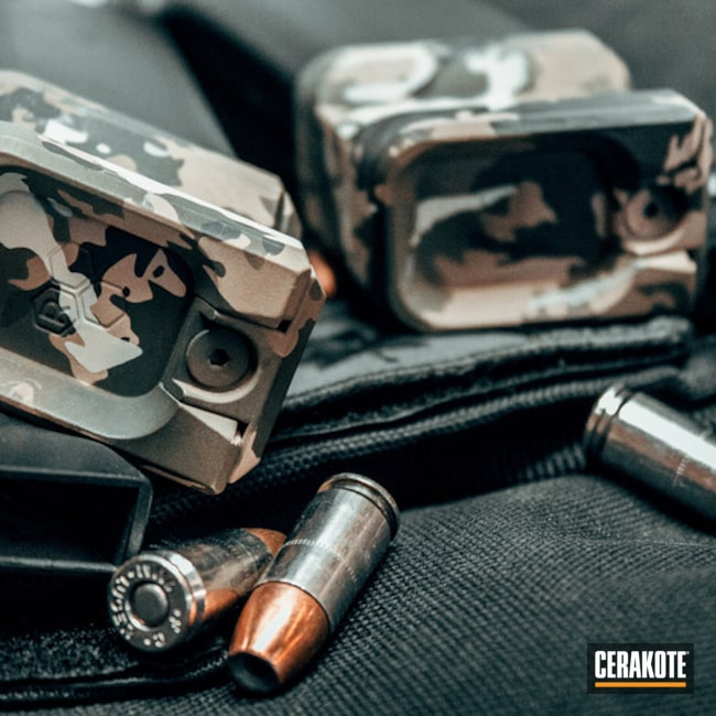 "Thumbnail image for project ""Cerakoted Magazine Base Plates in a MultiCam Finish"""
