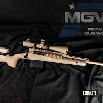 Cerakoted Cerakoted Remington 700 Bolt Action Rifle In A Desert Sand Color