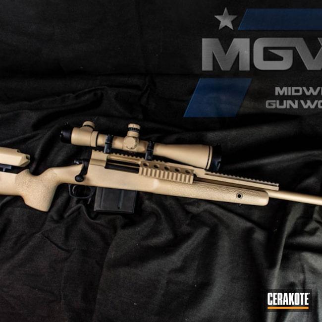 Cerakoted: Bolt Action Rifle,Scope,Scope Mount,Rail,Desert Sand H-199,Remington,Desert Sand C-211,Remington 700,Long Range Tactical Rifle