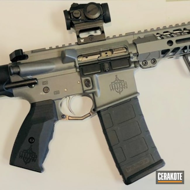 Cerakoted: AR Pistol,Super Shorty,Custom built AR,Tactical Rifle,Concrete E-160,Concrete E-160G,Maxim Defense Brace,.300 Blackout,AR-15