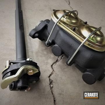 Cerakoted Brakes And Door Hinges In Cerakote H-146 Graphite Black