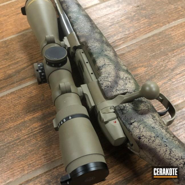 Cerakoted: Bolt Action Rifle,Scope,MarkV,Flat Dark Earth H-265,Leupold,Weatherby
