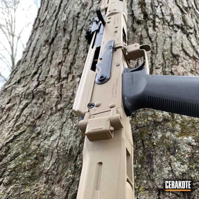 Cerakoted: Coyote Tan H-235,Graphite Black H-146,Tactical Rifle,AK Rifle