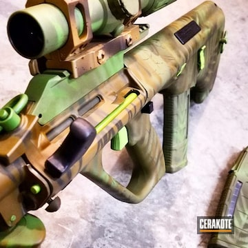 Cerakoted Steyr Aug With A Custom Jungle Camo Finish