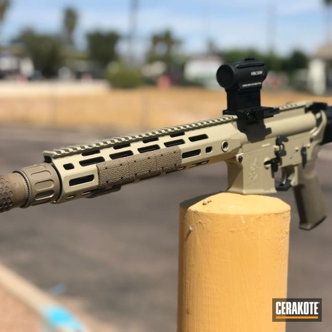 Cerakoted: Desert Sage H-247,Tactical Rifle,Noveske