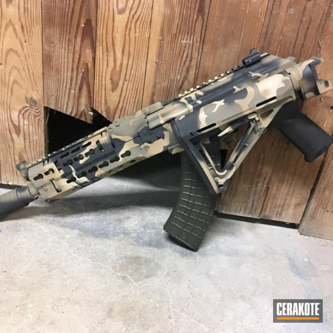 Cerakoted: MultiCam,Desert Sand H-199,BARRETT® BROWN H-269,SBR,Flat Dark Earth H-265,AK Rifle